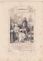 DAUMIER.  LES ROBERT-MACAIRE N° 73. OUI MON ONCLE.  268 X 197   / 6000 - Estampes & Gravures
