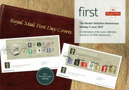 ROYAL MAIL COMMUNICATION STAMPS TIMBRES MACHIN ANNIVERSARY DEFINITIVE - Otros