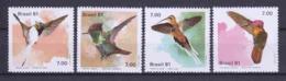 Brasil 1981 Mi 1823-1826 MNH BIRDS - Hummingbirds