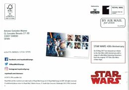 ROYAL MAIL COMMUNICATION STAMPS TIMBRES STAR WARS - Cinema