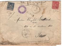 Lettre De VOULX à Paris Valeur 450 Francs  Chargé   Voir Scans  Ref A9:10 - 1877-1920: Période Semi Moderne