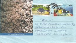 Mauritius 2012 Rose Hill Giant Tortoise Fish Aerogramme. Front Only - Mauritius (1968-...)