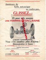 75- PARIS- PUBLICITE G. CALANDRE 102 RUE FOLIE MERICOURT- HARRIS LEON LAISNE AUTO AUTOMOBILE VOITURE GARAGE 1937 - Cars