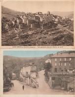 2 CPA 12  SAINTSERNIN SUR RANCE PLACE DU FORT + VUE GENERALE - France