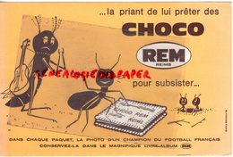 51- REIMS - BUVARD CHOCOLAT CHOCO REM- FOURMI  FOURMIS- GUITARE - Chocolat