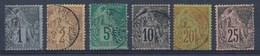FRANCE - Colonies - Yv. Nr 46/47 + 49/50 + 52 +54 - Gest./obl. - Cote 41,00 € - Alphee Dubois