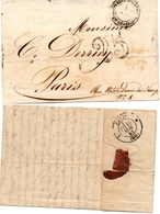 LAC Du Corps Expéditionnaire D'Italie - Quartier Général Datée De Novembre 1852 + Taxe 25 Pour Paris - Postmark Collection (Covers)