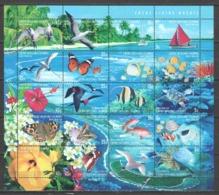 Cocos (Keeling) Islands 1999 Kleinbogen Mi 375-394 MNH FISH CORAL BIRDS - Vissen