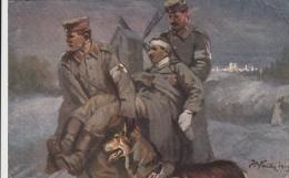 AK - WK I - Rotes Kreuz - Transport Eines Verwundeten- 1915 - Signiert - Rotes Kreuz