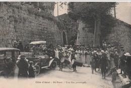 CPA 06 SAINT-PAUL UNE FETE PROVENCALE TAMBOURINAIRES BELLE ANIMATION VOIR ETAT - Saint-Paul
