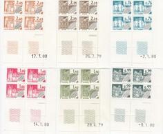 FRANCE. LOT DE PREOBLITERES 1979/1980. Yv 164 / 169.  EN COINS DATES / 7247 - Angoli Datati
