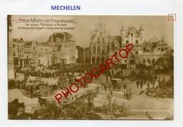 MECHELEN-Prisonniers Belges-CARTE PHOTO Allemande-Guerre 14-18-1WK-BELGIEN-Westflandern-Feldpost - Mechelen