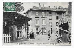 38 Dép.- St-Quentin-sur-Isère.- Rue Des Postes Et Télégraphes. - Autres Communes