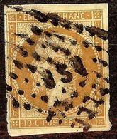 SUPERBE NAPOLEON N°13 Bb 10c Brun Oblitéré Losange AMBULANT Cote 70 Euro - 1853-1860 Napoléon III