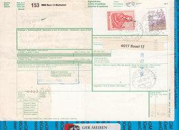 Schweiz - Auslandspaketkarte / Foreign Package Card Bern - Egmond Aan Zee - Postwaardestukken