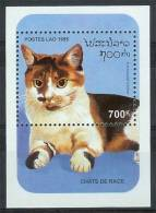 Mua779 FAUNA KATTEN ZOOGDIEREN CATS MAMMALS KATZE CHATS LAOS 1995 PF/MNH - Laos