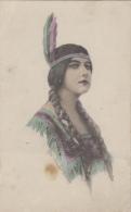 Indiens De L'Amérique Du Nord - Femme - Portrait - Artist Illustrateur Schlesinger New-York - Indiens De L'Amerique Du Nord