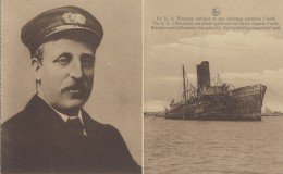 "Catastrophes - Guerre 14-18 - Marine - Capitaine Fryatt Et Navire Ferry ""Brussels"" - Catastrophes"