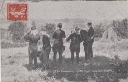 Militaria - En Campagne - Officiers Etat-Major Consultant La Carte - 1909 - Manoeuvres