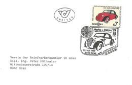 FDC AUSTRIA 1999 - Automobili