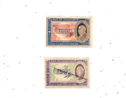 10879 - Lot De 2 Bons Solidarité 1 Et 2 Francs, Au Profit Des Populations Civiles éprouvées Par La Guerre, - Bonds & Basic Needs