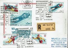 Österreich Austria 1975 - Olympische Winterspiele 1976, Innsbruck - MiNr 1499-1502 - Winter 1976: Innsbruck