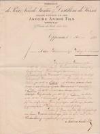 Facture 1881 / Antoine ANDRE / Fabrique Poix, Noir De Fumée, Distillerie De Kirsch / Oppenau / Duché De Bade - Allemagne