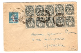 France Belle Lettre De 1927 Affranchie Avec Blanc 1ct En Bloc De 10 + Caisse Amortissement. A Saisir! - Frankreich