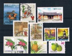 Taiwan Kleines Lot 11 Werte Gestempelt - 1945-... Republic Of China
