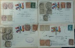 France 10 Belles Cartes Correspondance Des Armées 1910/1918. Affranchissements Composés. A Saisir! - Frankreich