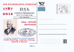 Rep. Ceca / Cart. Postali (Pre2012/78) Jan Evangelista Purkyne (1787-1869), Anatomista E Fisiologo Ceco - Postwaardestukken