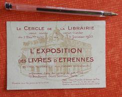 L'exposition Des Livres D'étrennes - Cercle De La Librairie - 1932-1933 - Reclame