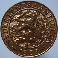 Netherlands Antilles 1 Cent 1968 AUNC / UNC - Antilles Neérlandaises