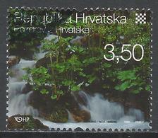Croatia 2008. Scott #685e (U) Waterfall, Plitvice Lakes National Park * - Croatie