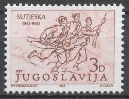 Yugoslavia 1987** 40th ANNIV. OF BATTLE OF SUTJESKA - Ungebraucht