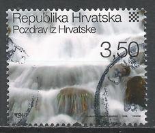 Croatia 2008. Scott #685c (U) Waterfall, Plitvice Lakes National Park * - Croatie