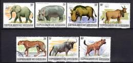 BURUNDI - 1982 - ANIMAUX SAUVAGES WWF (oblitérés) - Burundi