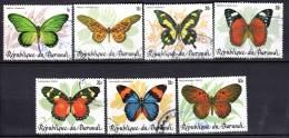 BURUNDI - 1984 - PAPILLONS  (oblitérés) 7 Timbres - Burundi