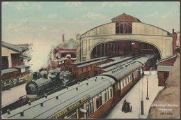 Great Western Railway Station, Penzance, Cornwall, 1908 - J Welch & Sons Postcard - England