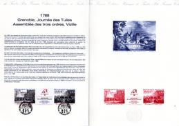 """"""" JOURNEE DES TUILES ... """" Sur Document Philatélique Officiel De 4 Pages De 1988. N° YT T2538A  En Parfait état ! - French Revolution"""