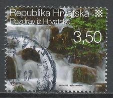 Croatia 2008. Scott #685d (U) Waterfall, Plitvice Lakes National Park * - Croatie