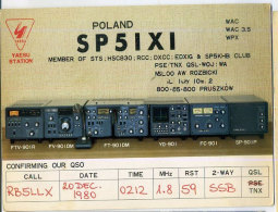 RK Poland On The Card Of Japan 20. 12. 1980 Radio Card - Japan