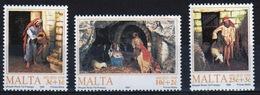 Malta 1990 Set Of Stamps To Celebrate Christmas. - Malta
