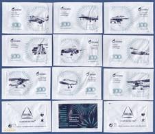 Cafés Delta, Portugal 2018 - OGMA, 100 Anos ( Portuguese Air Force ) / Série Complète10 Sachets Vides - Suiker