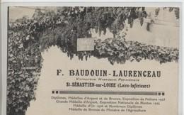 44 - SAINT SEBASTIEN Sur LOIRE - F. BAUDOUIN - LAURENCEAU - Viticulteur - Saint-Sébastien-sur-Loire