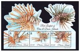 Bloc  Sheet  Poissons  Lion  Lionfish Minisheet  Neuf  MNH  Pitcairn  Island 2015 - Timbres