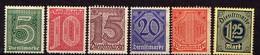 DR Dienstmarken 1920, Mi D 23-26; 30-31 ** (Mi 23; 25 *) [100918I] - Service