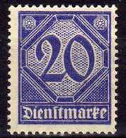 DR Dienstmarken 1920, Mi D 26 ** [100918I] - Service