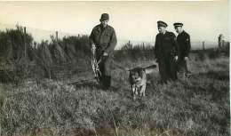 100918 - PHOTO 1950 60 - GENDARMERIE DE L'AIR Aviation Gendarme - Surveillance Chien Loup Cynophile - Polizia – Gendarmeria