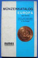 NUMEX Münzenkatalog EUROPA Ab 1945 Nach Jahrgängen Und Münzzeichen 2nd Edition - Coin Catalog - Books & Software